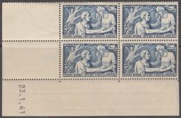 N° 498 - X X - Daté 23/01/41 - ( Petite Trace D'adhérence Sur Bord De Feuille Angle Supérieur Gauche ) - Ecken (Datum)