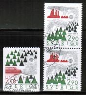 CEPT 1986 SE MI 1397-98 USED SWEDEN - Europa-CEPT