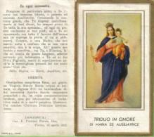 SANTINO TRIDUO IN ONORE DI MARIA AUSILIATRICE - Santini