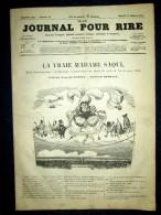 """""""PETIT JOURNAL Pour RIRE"""" (d´IMAGES COMIQUE CRITIQUE SATIRIQUE MOQUEUR) #68 Janv. 1853 Humour Gravure BERTALL - 1850 - 1899"""