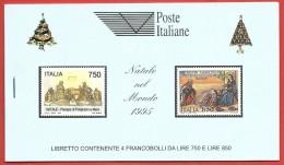 ITALIA REPUBBLICA LIBRETTI MNH - 1995 - Natale (4 Esemplari Da 750 L. E 4 Da 850 L.)  - UNICEF AZZURRO - U. LR8a - 6. 1946-.. República