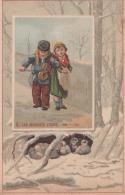 Chromo 1900 Nouveautés Draperie Au Mans (sarthe ): Enfant Violon : Les Mauvais Jours - Trade Cards