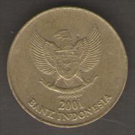 INDONESIA 500 RUPIAH 2001 - Indonesia