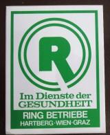 HOTEL GASTHOF RING WIEN VIENNA VIENNE VIENA AUSTRIA OSTERREICH DECAL STICKER LUGGAGE LABEL ETIQUETTE AUFKLEBER - Hotel Labels