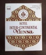 HOTEL GASTHOF BAD INTER WIEN VIENNA VIENNE VIENA AUSTRIA OSTERREICH DECAL STICKER LUGGAGE LABEL ETIQUETTE AUFKLEBER - Hotel Labels