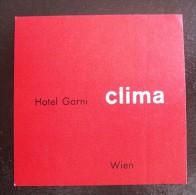 HOTEL GASTHOF BAD CLIMA WIEN VIENNA VIENNE VIENA AUSTRIA OSTERREICH DECAL STICKER LUGGAGE LABEL ETIQUETTE AUFKLEBER - Hotel Labels