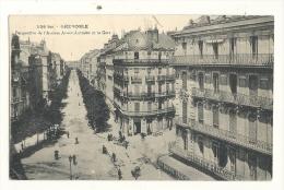 Cp, 38,  Grenoble, Perspective De L'Avenue Alsace Lorraine Et La Gare, écrite - Grenoble