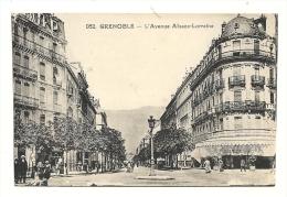 Cp, 38,  Grenoble, L'Avenue Alsace Lorraine - Grenoble