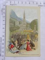 CPA Chromo Image Religieuse - Edition De La Trappe D'Aiguebelle - Notre Dame De Lourdes - Procession Du St-Sacrement - Devotion Images