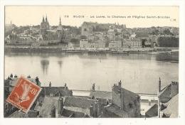 Cp, 41, Blois, La Loire, Le Château Et L´Eglise St-Nicolas, Voyagée - Blois
