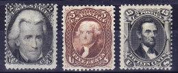 USA Scott # 73 + 76 + 77 Alle * - 1847-99 Emissions Générales