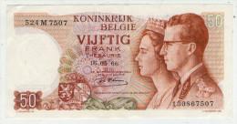 BELGIE . BELGIQUE . BILLET DE 50 FRANCS . VIJFTIG FRANK . 1966 - [ 6] Treasury