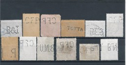 Lot 12 Stamps Perforated Portugal.B & I (Borges & Irmão),CFP (C.Franco Portugais),BNU,BES,TOTTA.PP (P. Provident).2scans - Plaatfouten En Curiosa