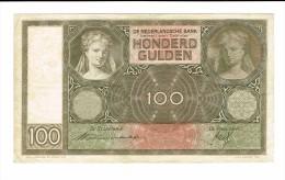 100 Gulden 20 Novembre 1940 - [2] 1815-… : Kingdom Of The Netherlands
