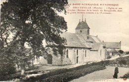CPA-BRETTEVILLE (50) - Le Vieil Arbre Magnifique à Côté De L'Eglise , Berceau De La Famille De Bricqueville(5° Croisade) - Altri Comuni