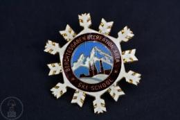 Vintage Germany Berchtesgaden Recreation Area Ski School Badge - Invierno