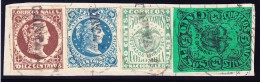 Kolumbien - Scott #64 + 74a + 75 + 83 Auf Briefstück - Colombie
