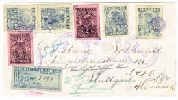Kolumbien - 24.11.1903 Bogota R-Brief Nach Stuttgart Weiter Nach Giessen - Colombie