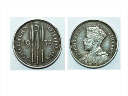 PRIX EN BAISSE ! Rare Pièce Argent 1932 Southern Rhodesia Zimbabwe ROI GEORGE V - Zimbabwe