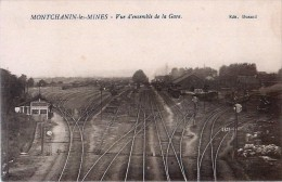 Cpa MONTCHANIN LES MINES 71 Vue D'ensemble De La Gare - Voies, Triage, Locomotives - - France