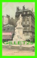 BORDEAUX (33) - MONUMENT GAMBETTA - L. BOSQ - TAVERNE GRUBER & CIE - CIRCULÉE EN 1905 - - Bordeaux