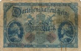 Billets -  B1674-  Allemagne - Empire Allemand  -5 Mak 1914 ( Type, Nature, Valeur, état... Voir 2 Scans) - 5 Mark
