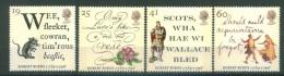 Great Britain 1996 - Robert Burns, Set Of 4 Stamps, MNH** - 1952-.... (Elizabeth II)