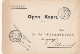Dienst Open Kaart Zuidbroek Terapel C (grootrond Spoor) Naar Oldenzaal (grootrond) - Poststempels/ Marcofilie