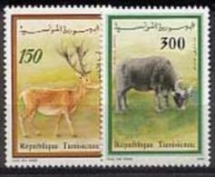MDA-BK1-187 MINT ¤ TUNESIE 1990 2w In Serie ¤ ANIMALS OF THE WORLD - WILD ANIMALS - ENDANGERED SPECIES - Otros