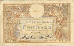 100 FRANCS  Olivier Merson 1934 - 1871-1952 Antichi Franchi Circolanti Nel XX Secolo