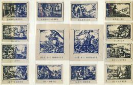 Alte 12+2 Zündholzetikettenserie A) Altrömischer Kalender Aus Deutschland - Boites D'allumettes - Etiquettes