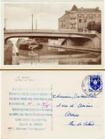 Reims - Le Pont De Vesle ( Péniche, Message Au Verso Des Librairies Hachette, éditions La Cigogne ) - Reims
