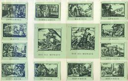 Alte 12+2 Zündholzetikettenserie C) Altrömischer Kalender Aus Deutschland - Boites D'allumettes - Etiquettes