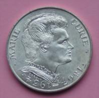 """Pièce De 100 Francs 1984 """"Marie Curie"""" - Argent 900/1000 - France"""