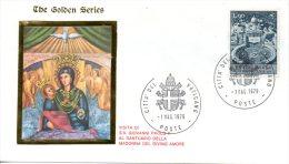VATICAN. Enveloppe Commémorative De 1983. Visite De Jean-Paul II Au Sanctuaire Della Madonna Del Divino Amore - Popes
