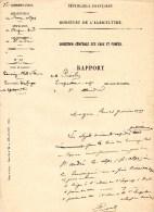 55Nj 8 Courrier Manuscrit Eaux Et Forets St André Les Alpes Luge Et Skis Touring Club De France En 1909 - Manuscripts