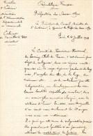 55Nj 9 Rare Courrier Manuscrit Ministre Interieur Au Prefet Des Basses Alpes Developpement Tourisme Montagne Ski Neige - Manuscripts