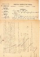 55Nj 10 Courriers Manuscrits Rapport Eaux Et Forets Riez Albiosc En 1875 - Manoscritti