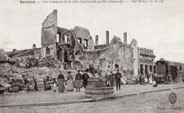 Cpa BACCARAT, Vue Intérieure De La Ville Bombardée Par Les Allemands, Le Lion A Résisté.. Animation++  (40.85) - Baccarat