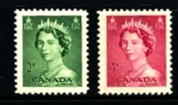 CANADA - 1953  QUEEN ELISABETH  ODD VALUES  MINT NH - 1952-.... Regno Di Elizabeth II