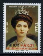2002 -  Italia - Italy - - Catg. Sass. 2611  - Regina Elena - Mint - MNH - 6. 1946-.. Republic