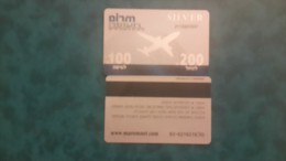 Israel-boarding Pass For The Flight And Trip-used( Silver)+2card Prepiad Free - Airplanes