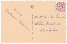 """19?? ZICHTKAART """"St-IDESBALD:AVENUE DE LA MER"""" PZ 851 VAN KOKSIJDE NAAR MECHELEN ZIE SCAN(S) - 1951-1975 Heraldischer Löwe (Lion Héraldique)"""
