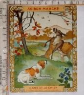 Chromo Debut XX°/ 1904 / Au Bon Marché / Goossens / Fablr Jean De La Fontaine / L'âne Et Le Chien - Au Bon Marché