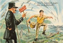 """Louis CARRIERE   """" Alors !on Taquine Le Goujon  - Non ,je Le Chatouille"""" - N° 50389 - Carrière, Louis"""