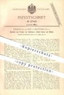Original Patent - Charles De Los Rice In Hartford , Conn. , 1901 , Pressen Von Hohlkörpern , Schmied , Metall , Stahl !! - Tools