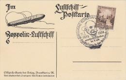 DR Luftschiff-Postkarte EF Minr.665 SST Konstanz 11.7.38 - Briefe U. Dokumente