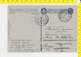 SP-1105 POSTA MILITARE 111 20'' BRIGATA ALPINI SCIATORI BATTAGLIONE VAL TOCE CARABINIERI COMANDO 13 PER OLEGGIO - 1900-44 Vittorio Emanuele III