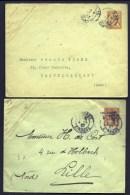 LOT 2 ENTIERS POSTAUX TYPE MOUCHON- 15 Ct ORANGE N° 117-E7-1903 + 15 Ct VERMILLON N° 125E4-SURCHARGE TAXE REDUITE 1907 - Ganzsachen