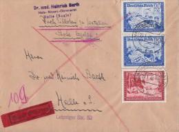 DR Brief Eilbote Mif Minr.708,2x 711 Naumburg 22.1.40 - Germany